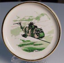 Vietnam War JOLLY GREEN GIANT Sikorsky Helicopter HH-3E Vtg Trinket Dish Gift