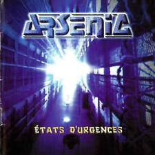ARSENIC - ´´ETATS D´URGENCES´´ - RAR FRENCH METAL CD 1998 LIKE SORTILEGE/H-BOMB