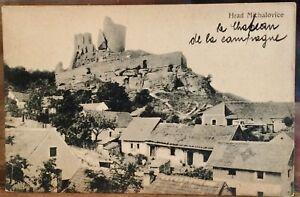 Czech Republic Postcard HRAD MICHALOVICE Castle Bohemia Jizera River KZP Matte