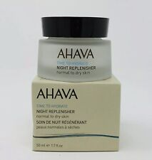 Ahava Time To Hydrate Night Replenisher Normal Dry Skin 1.7 oz/50ml New In Box