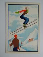 Gravure ancienne coloriée au pochoir signée Edouard Halouze c.1930
