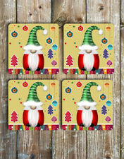 Gnome Christmas Coasters Set of 4 Non Slip Neoprene Coasters