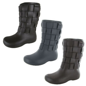 Crocs Womens Super Molded Weave Boot Shoes