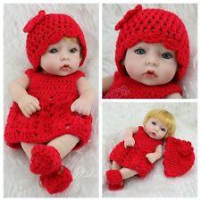Handmade Lifelike Newborn Babies Blonde Girl Doll Full Vinyl Silicone Baby Dolls