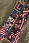 Patriotic Ties (2) Fratello Handmade Red White Blue Flag Statue Liberty free S&H