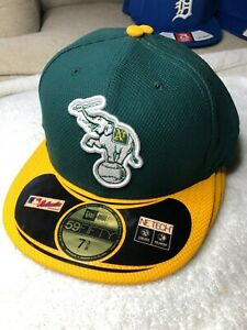 NEW 59Fifty New Era Fitted Baseball Hat Cap MLB Oakland A's Athletics Elephant