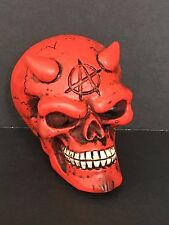 Skull Anarchy Red Devil Head Shift Knob Car Manuel Stick Death Hot Rat Rod Drag