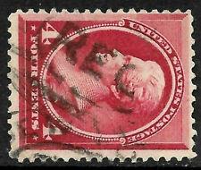 "Sc #215 ""REGistered"" Fancy Cancel Jackson 1888 Banknote 4 Cent US 26D85"