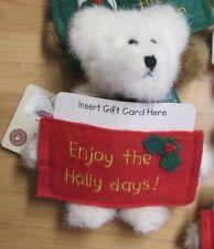 """NEW Boyds Bears 5"""" Teddy Bear Christmas Plush Gift Card Holder """"Holly"""""""