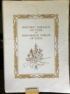 Boer War Scenes Dutch Book Wall Tiles - Historiese Tablo's op Teels SA Railway