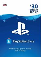Playstation Network Card PSN Key 30 Pound [UK] - PS3/ PS4/ PS Vita - UK account