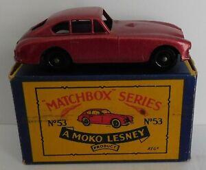 Matchbox Moko Lesney Cars, Regular Wheels, 53a Aston Martin DB2-4 MK 1