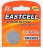 1 x CR2025 3V Lithium Batterie 150 mAh ( 1 Blistercard a 1 Batterie ) EASTCELL
