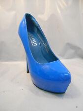 Shoes of Soul Synthetic Blue Platform Pumps Heels Women's Size 6 M