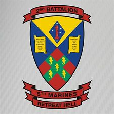 USMC 2nd Battalion 5th Marines Insignia Military Graphics Decal Sticker Car