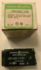 GE CR103C1102 Square Indicator Light 110-125V AC/DC-New Old Stock -New Old Stock