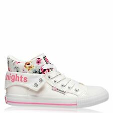 British Knights Womens Roco Canvas High Ankle Trainers Sneakers Sports Shoes