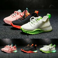 Children Kids Baby Girls Boys Letter LED Luminous Sport Run Sneakers Shoes