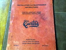 1937 Curtiss Constant Speed Feathering Propellers Install-Service Manual