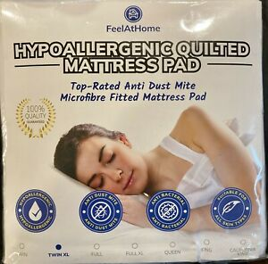 Mattress Pad Protector Twin XL Hypoallergenic Fitted Sheet Quilted Topper Cover