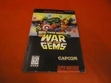 Marvel War Of The Gems Super Nintendo SNES Instruction Manual Booklet ONLY