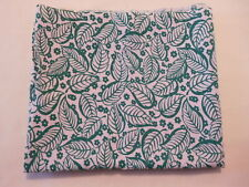 Vintage Closed FEEDSACK FEEDBAG Quilt Fabric Green Leaves & Flowers White Back