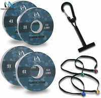Maxcatch Fluorocarbon Leader Tippet Line for Fly Fishing with Tippet Line Holder