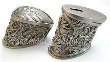 #12 Set Unusual Knives Pommel Finger Guard German Silver for Custom Knife Making