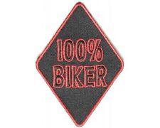 "(C3) 100% BIKER 3"" x 2"" iron on patch (4172) Biker vest Cap Hat"
