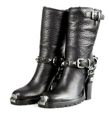 AUTH MIU MIU HALF-BOOT SHOES 5U9427 BLACK BUFFALO SKIN NEW US 9 EU 39 39,5 UK 6