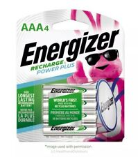 Energizer Rechargeable AAA Batteries, NiMH, 800 mAh, Power Plus 4CT, NH12BP-4