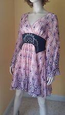 new nwt runway catwalk Guess by Marciano silk dress sz S 6 8 $275 Neiman