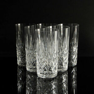 Saint Louis crystal drinking glass water TARN Set of 6 mid century vintage
