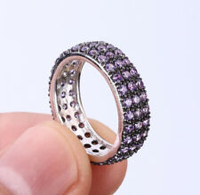 INFINITY AMETHYST .925 SOLID STERLING SILVER RING SIZE 7 #27952