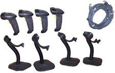 Lot 4 Motorola Symbol Black Ls2208 BarCode Scanner Kit w Stand & New Usb Cable