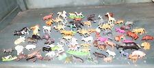 Animales Lote De Figuras Plástico, Granja Selva Sabana, Juguete Antiguo X 77