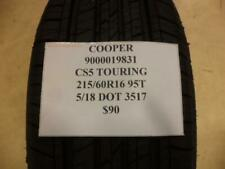 1 NEW COOPER CS5 TOURING 215 60 16 95T TIRE WO LABEL 90000020038 Q9