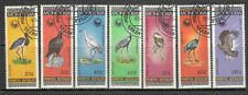 Mongolia 1985 birds fauna - eagle , Y1354/60  full stamp set used