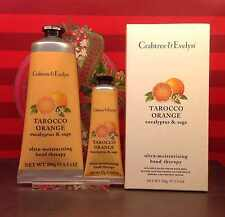 GIFT SALE Crabtree & Evelyn Tarocco Orange Hand Therapy 100g+25g Huge Saving