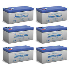 Power-Sonic PS-1230 12V 3AH Battery Replaces CFP 2/4/8 Zone Fire Panel - 6 Pack