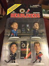 Headliners NHL 1997 Superstars Figures 4 Pack Hull Gretzky Messier Lemieux NIP