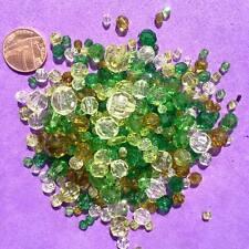 200 X Verde Mezclado Abalorios, Llaveros, Craft, fabricación de joyas, grano de caballo. Spacer
