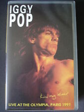 Iggy Pop, Kiss my blood, Concert Paris 1991. Vidéo K7 VHS