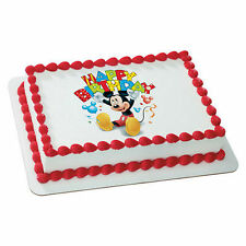 Mickey Mouse image frosting sheet personalized cake topper icing #35376