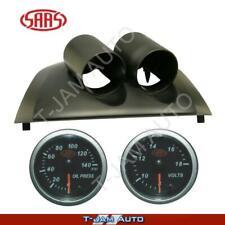 Ford Falcon FG XR6 XR8 Black Gauge Pod Oil Press + Volt Black S/L Gauges