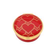 Halcyon Days Enamel Box Heart Trellis Red Enamel Box Enhtr0601G