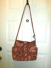 Vera Bradley on the go bag Mesa Red BANDANA RED CROSS BODY SHOULDER BAG MINT!