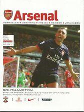 Football Programme - Arsenal v Southampton - Premiership - 15/9/2012