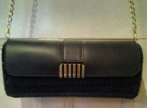 Ladies bag chain weave box clutch shoulder evening handbag baguette