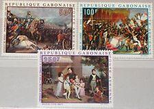 GABON GABUN 1969 330-32 C83-85 Bicent. Napoleon Paintings Gemälde Art Kunst MNH